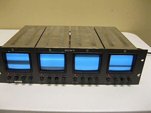 SONY PVM-411 VIDEO MONITOR ARRAY - 4 MONITORS IN 19 INCH RAC
