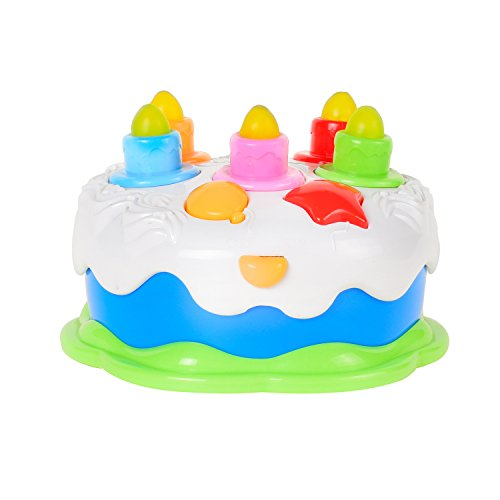 Toys For Your Birthday : Kids birthday cake toy with candles music pretend play