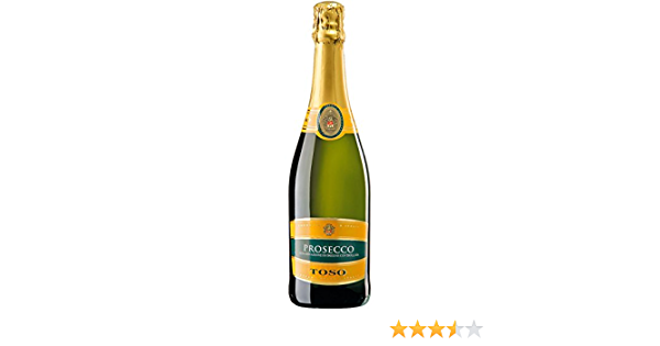 Toso Extra Dry Doc Prosecco - 2 Paquetes de 750 ml - Total: 1500 ml