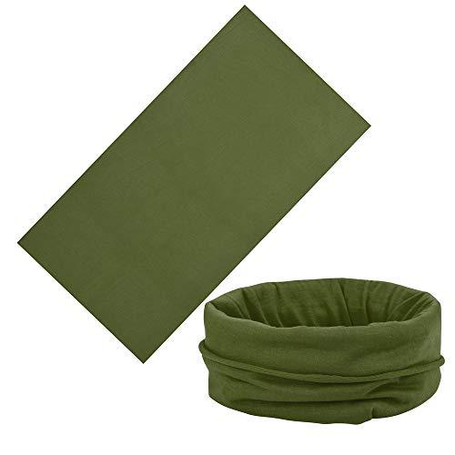 ❤️Jonerytime❤️Multiuse Unisex Outdoor Scarf Tube Magic Outdoor Bandanas Snood Headwear (Army Green) (Wear Army Beret)