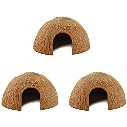 Coconut Hide For Reptiles or Fish (3 Pack)