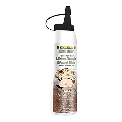 Silverhook bigwa02 Big Boy Poliuretano Ultra rígida madera pegamento adhesivo – transparente