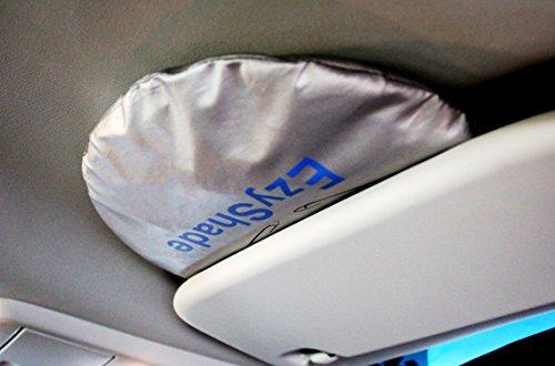 EzyShade Car Windshield Sunshade + Bonus Product. Universal Fit, Hassle-Free Car Sun Shade Keeps Your Vehicle Cool. Heat and Sun Reflector