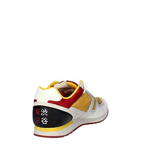 Lotto Leggenda S8840 Zapatillas De Deporte Hombre Gamuza/tejido Blanco Giallo / Grigio
