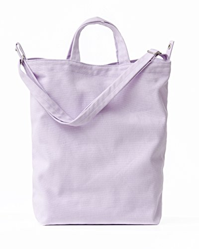 Everyday Canvas Bag - BAGGU Duck Bag Canvas Tote, Essential Everyday Tote, Spacious and Roomy, Lilac