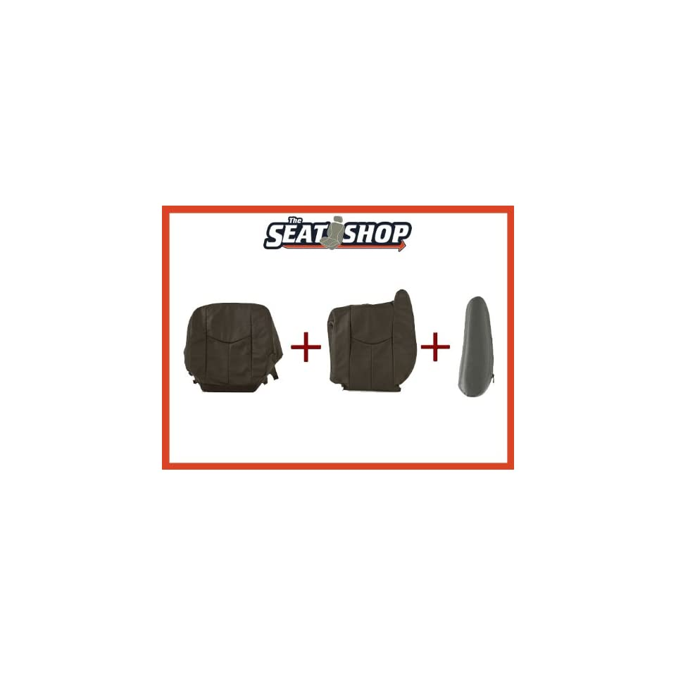 03 04 05 06 Chevy Silverado Graphite Leather Seat Cover