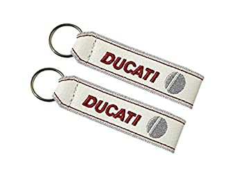 Moto Discovery Ducati cordón Llavero Doble Cara Blanco (1 ...