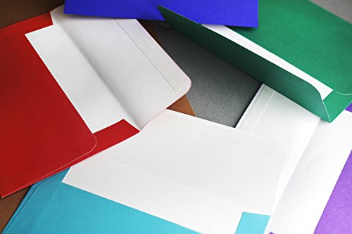 100-Pack-A4-Envelopes-425-x-625-Inches-Square-Flap-Photo-Envelopes-Invitation-Envelopes-for-Wedding-Invitations-100GSM-Assorted-Colors