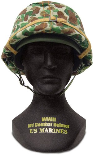 Gearbox Military Classics US Marines WWII Helmet including the statue