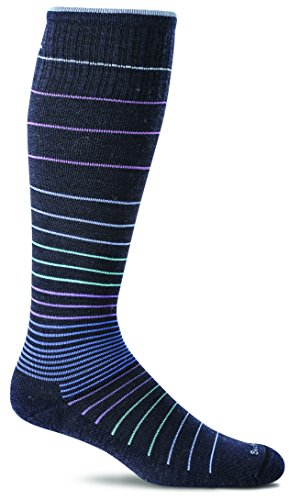 Sockwell Women's Circulator Graduated Compression Socks-Ideal for-Travel-Sports-Nurses-Reduces Swelling, Medium/Large(8-11), Navy