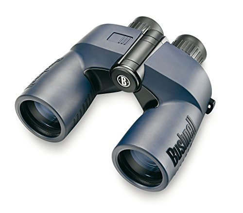 Bushnell Marine 7 x 50mm Porro Prism Waterproof/Fogproof Binoculars with Digital Compass and Tilt, Blue