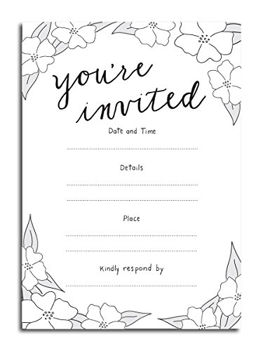 You're Invited Vintage Fill-in Invitations - (25) 5x7