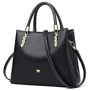 FOXER Women Leather Purses Handbags Lady Tote Shoulder Bag Top Handle Bags