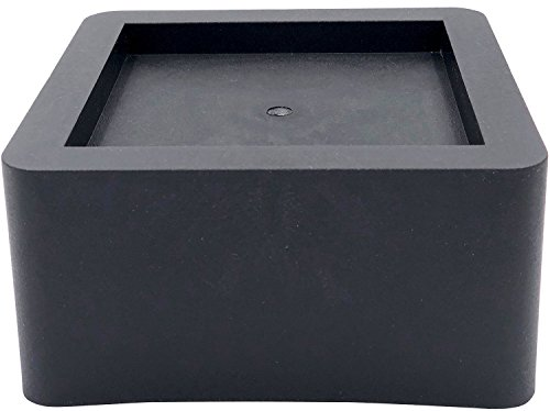 DuraCasa 3 Inch Bed Risers - Fits Huge 5.5 Inch Bed or Furniture Post, Creates an Additional 3 Inches of Height or Storage! Heavy-Duty Table, Chair, Desk or Sofa Riser (6, 3 Inch Black) by DuraCasa (Image #8)