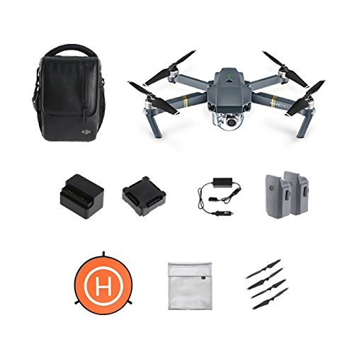 DJI Mavic Pro Combo with Landing Pad, DJI exclusive stickers and Battery Safe Bag by DJI