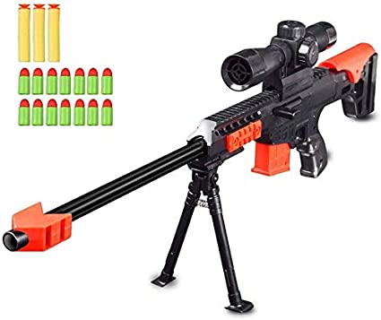 CifToys Combat Military Mission Machine Gun Toy with LED Flashing Lights Sound