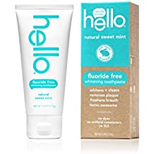 Hello Oral Care Fluoride Free Toothpaste, Natural Sweet Mint, 4.2 Ounce(Pack Of 4)
