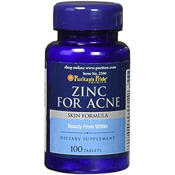 Amazon Com Puritans Pride Zinc For Acne 100 Count Health