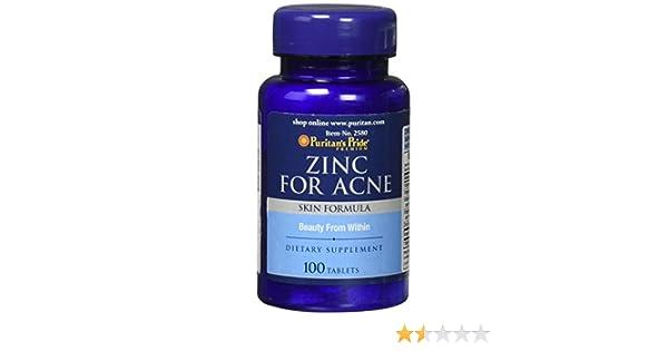 Zinc para el ACNE 50 mgrs // 100 caps. ACNÉ + (Vits A,C,E B6) PIEL SKIN: Amazon.es: Salud y cuidado personal