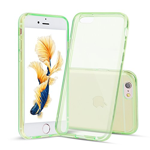 Shamo's for iPhone 6 and iPhone 6s Case Shock Absorption TPU Rubber Gel Transparent (Green)