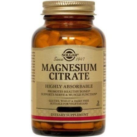 Solgar Magnesium Citrate 120 Tablets (pack of 2) - Magnesium Citrate 120 Tabs