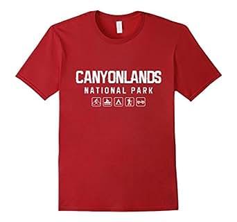 Mens Canyonlands National Park Outdoor T-shirt 2XL Cranberry