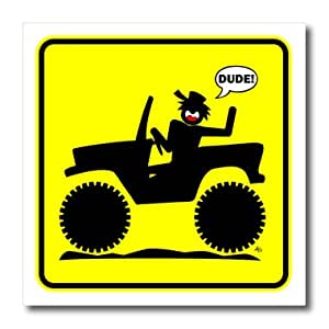 ht_14750_3 Mark Grace SCREAMNJIMMY Cars - CAR DUDE yellow sign 1 - Iron on Heat Transfers - 10x10 Iron on Heat Transfer for White Material