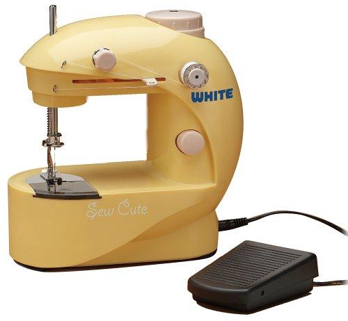 Amazon White SC40 Sew Cute BatteryAC Sewing Machine Custom White Sewing Machine Bobbin Size