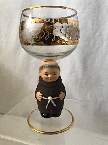 GOEBEL Hummel Figurine Wine Glass, Friar Tuck Goebel Wine Glass, West Germany Wine Glass (West Germany Glass)