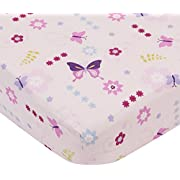 Lambs & Ivy Fitted Sheet, Butterfly Lane