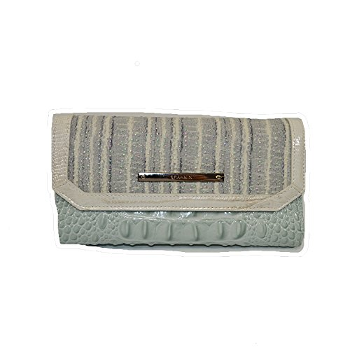Brahmin Soft Checkbook Wallet Clutch Sea Glass Edgewater by Brahmin
