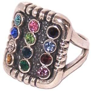 HolyLandMarket de sello mesiánico y de los regalos de mujeres anillo hecho Pechopetral Priestly antiguo de plata de ley de tamaño estándar americano joshen Hoshen 7