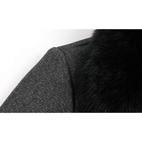 Cappotti Cappotti Cappotti da di Caldo da Lana Trench Colletto Colletto Colletto Colletto Uomo Uomo Ed Cappotto nihiug con Cachemire Elegante d'Affari Collo di Collo da Pelliccia Uomo di Grey da Cappotto HvwqntO