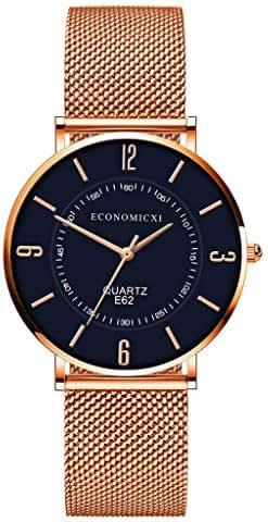 Ultramall BC78 Rose Gold Women Watch Stylish Luxury Casual Lady Watches Waterproof Wristwatch