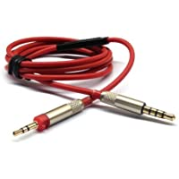 Red Replacement cable with Remote Mic connect iphone to Sennheiser HD598 HD558 HD518 headphones