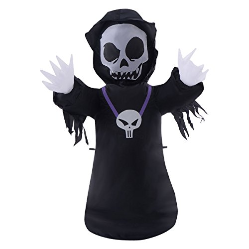 TANGKULA 4FT Inflatable Black Ghost Halloween