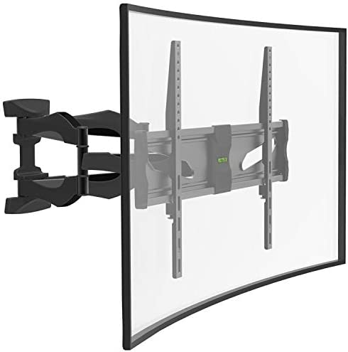 Charmount Full Motion TV Wall Mount with Hiding Cable Design, Tilt TV Mounting Bracket Dual Swivel Articulating Arms, for Most 40-75 inch 4K Flat Curved Monitor Screen TVs, Max VESA 600x400mm 99lbs