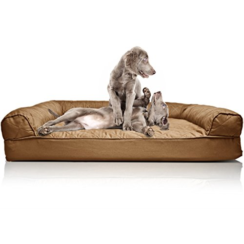 - FurHaven Pet Dog Bed | Orthopedic Quilted Sofa-Style Couch Pet Bed for Dogs & Cats, Toasted Brown, Jumbo