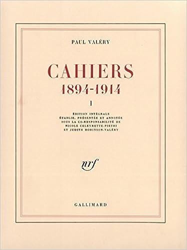 Cahiers (Tome 1): (1894-1914) pdf