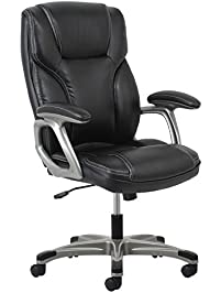 essentials highback leather executive chair with arms ergonomic swivel chair