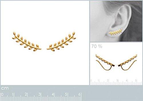 ISADY - Jayla Gold - Boucles d'oreille - Plaqué or jaune 18K - Clous d'oreille