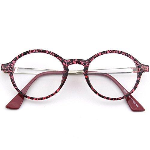 Retro Multicolor Morado Para CN94 Lente Anteojos Mujer Gafas Claro Hombre CGID y 5g6Pwv