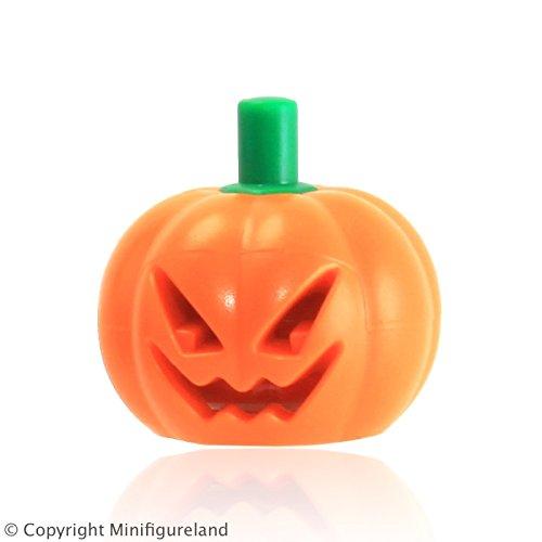LEGO Parts: Halloween Pumpkin with Green Stem Jack