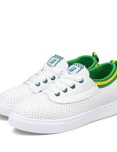 Sneakers ShangYi Piatto Comoda Blue Casual moda Nero Donna Finta Blu pelle Verde Tempo alla Scarpe libero qEzr4xEFw
