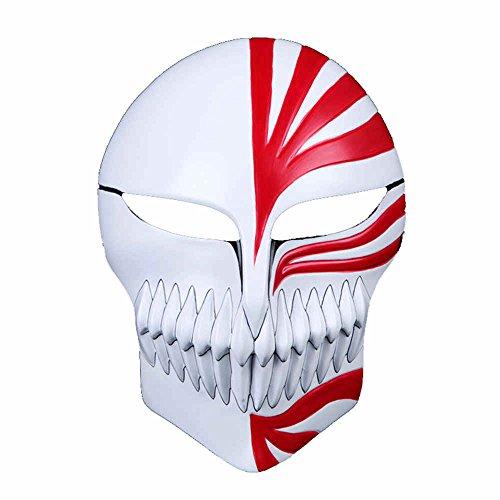 Charmgle Death Kurosaki Ichigo Virtual Mask Resin Halloween Cosplay Prop Collection Gift ()