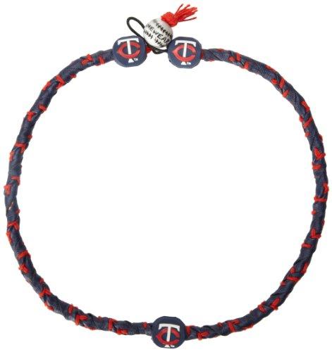 MLB Minnesota Twins Team Color Frozen Rope Baseball Necklace (Sport Mit R-logo)