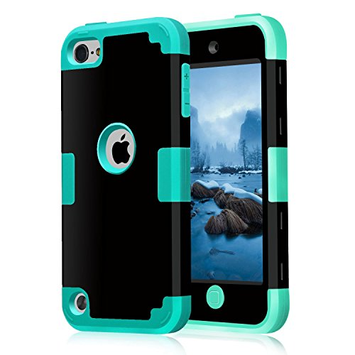 iPod Touch 6 Case, Asstar [Stand Feature] Durable Soft TPU+PC 3 in 1 Hybird Hard Back All-round Protection Case Suitable for Apple iPod touch 5 6th Generatio (BULE (Eeyore Character)
