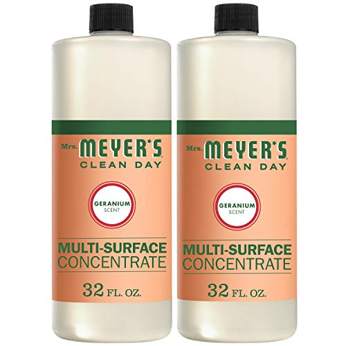 (Mrs. Meyer's Clean Day Multi-Surface Concentrate, Geranium Scent, 32 ounce bottle (Pack of 2))