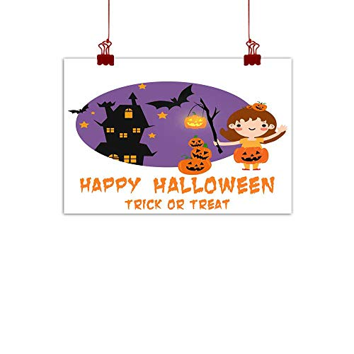 Mannwarehouse Modern Frameless Painting Halloween Background with Lovely Costumes Bedroom Bedside Painting 35