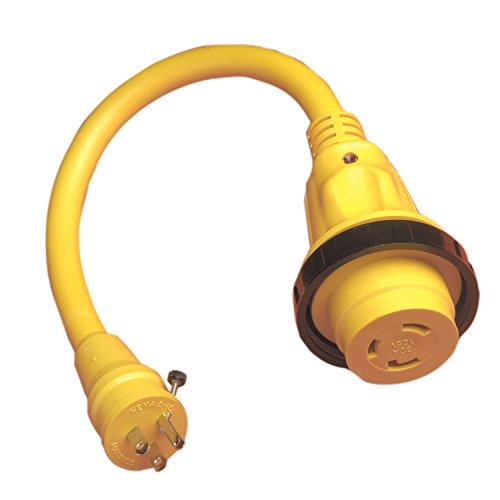 Marinco Marine Electrical Shore Power Pigtail Adapter, Yellow ()